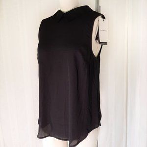 NWT Who What Wear Black Sleeveless Top XS